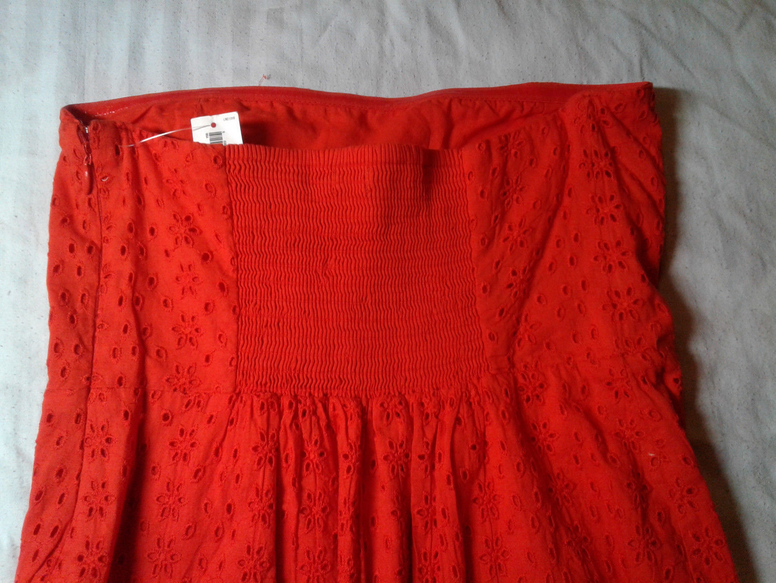 Old Navy, Orange Dress, Strapless, Tube, Eyelet, Lace, Beach, Lined, Sz2, NWT @&
