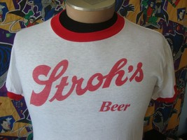 Vintage 80s Stroh's Beer Oklahoma Ringer T Shirt M - $39.59