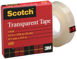 "Scotch Transparent tape measuring 3/4"" x 72 yd is designed for multipurp... - $9.40"