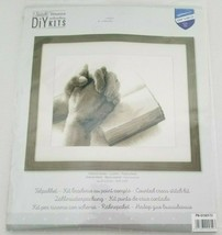"""VERVACO Praying Hands Counted Cross Stitch DIY Kit 10.8"""" x 8.8"""" Bible PN... - $39.99"""
