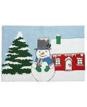 "Martha Stewart Collection Snowman 20"" X 30"" Hooked Rug T410882 - $39.19"