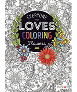 NEW 40-Page Everyone Loves Coloring Book: Flowers - Advanced Intricate Adult - $125,26 MXN