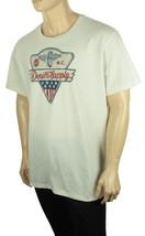 NEW MENS DENIM & SUPPLY RALPH LAUREN WHITE CREW NECK VINTAGE GRAPHIC TEE... - $20.99