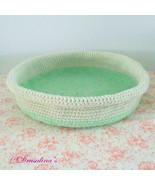 Cat Bed Crochet Sleep Basket Dog Pet Blanket Cozy Kitty House Washable H... - $14.99
