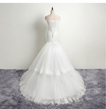 Ivory Lace China Wedding Dress Mermaid Appliqued Women Bridal Gowns Cheap 2019 - $163.88