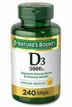 Nature's Bounty 5000 IU Vitamin D3 for Immune Support. Vitamin D Provide... - $21.99