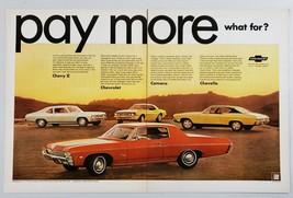 1968 Print Ad Chevrolet Impala, Camaro, Chevelle, Chevy II Cars - $13.35