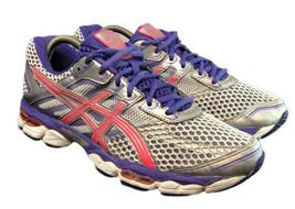 Asics Running Gym Gel Cumulus 15 Silver Purple Pink T3C5N Shoe Womens 9  - $44.10