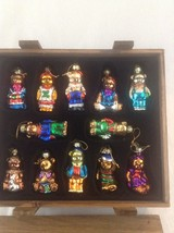 2002 Thomas Pacconi Classics Set Of 12 Glass Teddy Bears In Wooden Case ... - $37.39