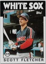 1986 Topps Baseball Card, #187, Scott Fletcher, Chicago White Sox - $0.99