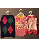 Dog Clothing Lot of 3 Medium Shirt Tee Sweater Dress Boy Girl Unisex - $16.44