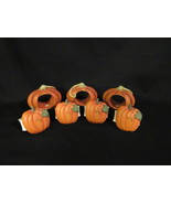 7 Pumpkin Napkin Rings Holders Set of 4 and 3 Resin Fall Thanksgiving Decor - $9.00