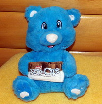 "Nestle Sno Caps Chocolate Candy 10"" Plush Cute Blue Bear Advertising Col... - $8.79"