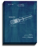 Cheese-filter Cigaret Patent Print Midnight Blue on Canvas - $39.95+