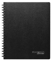 Cambridge Business Notebook with Pocket Hardbound 8.5 x 11 Inches Black ... - $29.32 CAD