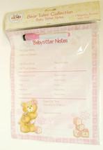 Baby GUND Nursery Bear Tales Babysitter Notes Dry Erase Magnetic Fridge ... - $6.00