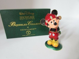 DEPT 56 BEJEWELED DISNEY SHOWCASE METAL FIGURINE MERRY CHRISTMAS FROM MI... - $18.76