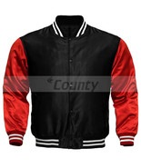 New Letterman Baseball College Varsity Bomber Jacket Sports Wear Black R... - $49.98+