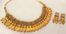 Indian Gold Plated Ginni Meenakari Fashion Bridal Necklace Set Wedding Jewelry - $11.03