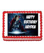 Thor Avengers Edible Cake Image Cake Topper - $8.98+
