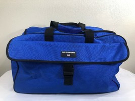 VTG Polo Sport Ralph Lauren Gym Bag Spellout Duffle 90s Large Blue RLX B... - $35.00