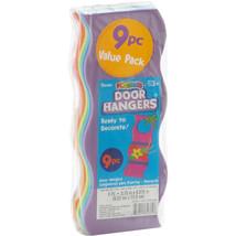 Foam Door Hangers Wavy Assorted Colors - $7.65