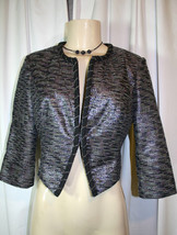 Fashion Star Season 1 Luciana Multicolor Cropped Metallic Jacket Macys S... - $37.38