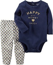 Carter's Baby Girls' 2 Piece Happy With Mom Bodysuit & (6 Months|Blue) - $25.41