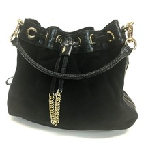 AUTHENTIC COLE HAAN  Croc-style Embossed Leather Shoulder Bag Black - $220.00