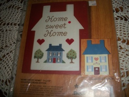 Gallery of Crafts Stitch-N-Paint Kit 32489~Home Sweet Home Cross Stitch Kit - $15.00