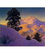 Maxfield Parrish  Winter Sunrise 22x30 Hand Numbered Ltd. Edition Art De... - $81.09
