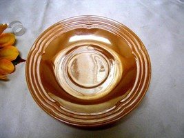 1077-2 Antique Three Bands Lustreware Fire King Saucer - $2.50