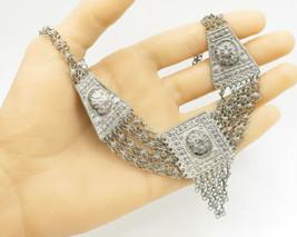 Israel 925 Sterling Silver - Vintage Antique Bracelet & Necklace Set - T... - $229.02