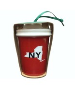 Starbucks New York Christmas Ornament To Go Cup 2016 Local State Collect... - $24.74
