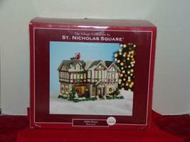 St. Nicholas Square Village ~ Tudor House ~ 2009 Illuminated Mint In Box - $48.02