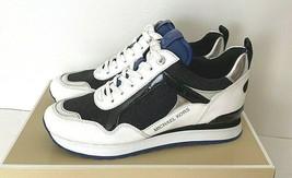 New Michael Kors Wilma Trainer Pixie Fine Glitter sneakers US size 6 Bla... - $98.01