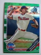 2019 Bowman Draft Chrome BDC-120 Andrew Schultz Green Baseball Card 79/99 - $6.99