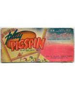 Vintage Toy Paper Game Slider Spinner Football Advertising Premium 1939 - $74.99