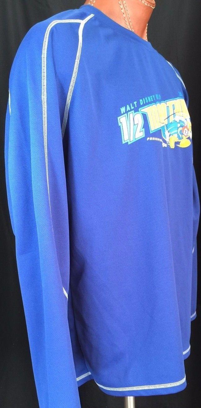 Walt Disney World 2012 1/2 Marathon Donald Duck Size L Blue Champion Double Dry