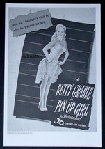 BETTY GRABLE IN PIN UP GIRL CRAZY JUDY GARLAND MICKEY ROONEY MOVIE AD PO... - $14.49