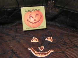 LONGABERGER JACK O'  LANTERN TIE ON NEW IN BOX - $10.00