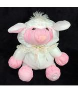 """1987 Fisher Price Puffalump Easter Lamb Sheep Plush 8009 White Pink 10"""" - $62.88"""