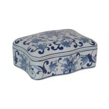 Blue and White Porcelain Ceramic Lided Box - $65.54