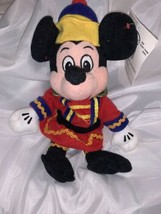 "Nutcracker Mickey Beanbag 9"" Pellet Filled Plush Doll NWT Disney Stuffed... - $14.84"