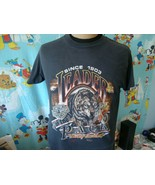 Vintage 1990 Harley Davidson 3D Emblem Wolf Leader Of The Pack T Shirt L - $98.99