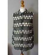H&M Long Sleeveless Blouse Aztec Print - $9.99