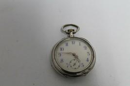 Vintage swiss pocket watch Silver - $106.03