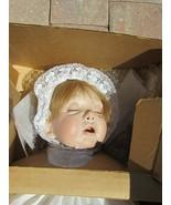 Vintage Virginia Turner Cassandra Porcelain Cloth Baby Doll 51617 Sleepi... - $296.99