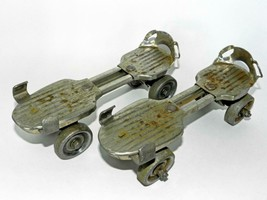 Vtg 'Kingston USA' 1940's-1950's Adjustable Metal Roller Skates w/Leathe... - $60.00