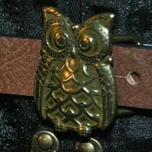 Women's Faux Leather Belt With An Owl Buckle #OC-B5097           Medium - $18.99